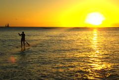 IMGP0713 (A.D. Loucks) Tags: ocean sunset vacation sky sun color outdoors island hawaii nikon honeymoon pentax oahu sunstar wikiki 2011 adloucks