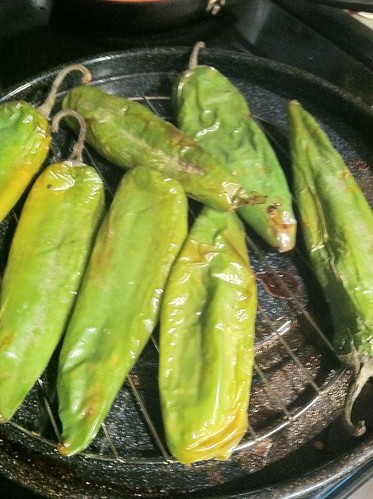 Roasted Anaheim Chili Peppers
