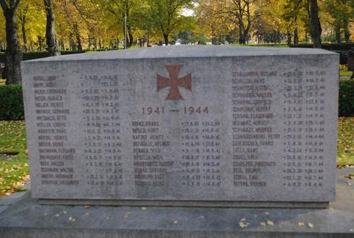 Detalle de la tumba de los caídos en las guerras finlandesas