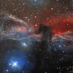 Alizey Khan - Horsehead Nebula II (alizeykhan) Tags: moon art painting stars star space nasa galaxy nebula cosmic cosmos spaceart nebulae spacepainting spacepaintings spacetuna spaceprint astronomicalillustration nebulapaintings astronomicalpainting