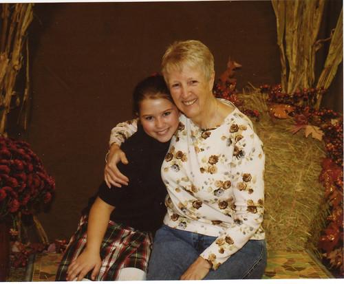 My grandgirl and me