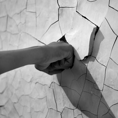 Breaking Point (Thomas Sittler) Tags: bw broken wall point hand neil fist impact punch cracks breaking