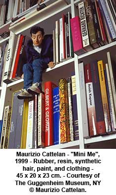 "Maurizio Cattelan - ""Mini Me"", 1999 by artimageslibrary"