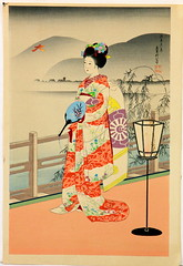 156. Japanese Woodblock of a Beauty