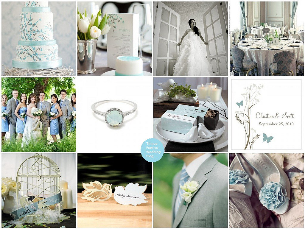 Love Bird Spring Wedding Theme in Powder Blue and Grey | Things ...
