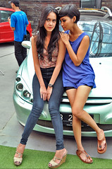 At The Epicentrum (Danny Kadarisman) Tags: auto girls car indonesia asian babes sw peugeot 307 hdi