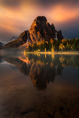 Canadian Rockies Light (kevin mcneal) Tags: autumn light lake canada fall nature weather bravo larch canadianrockies