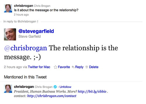 The Relationship is the Message. by stevegarfield