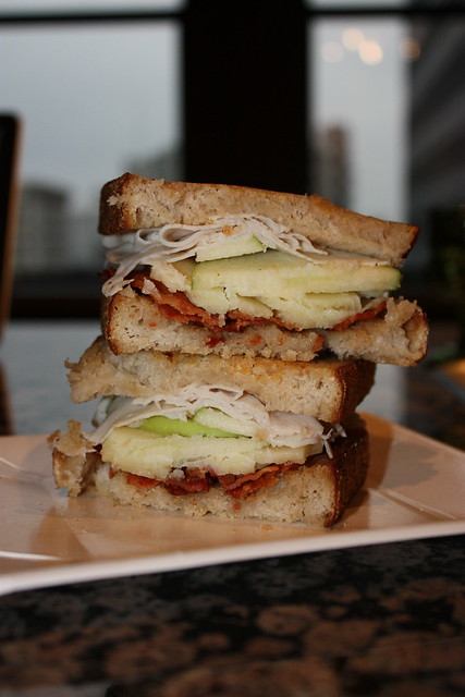 Turkey, Apple, Bacon Grilled Cheese