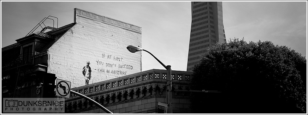 Banksy B&W.