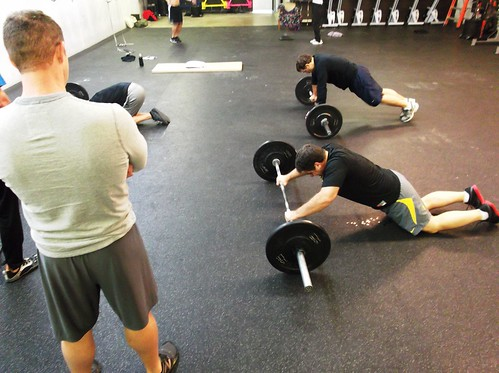 male masters fitness class