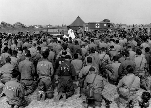 Jeep altar at WWII mass service by lee.ekstrom