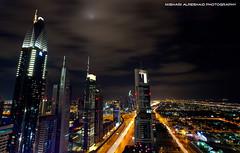 Night in Dubai (Mishari Al-Reshaid Photography) Tags: road longexposure roof night canon buildings lights dubai uae zayed khalifa kuwait canondslr canoneos sheikh nightphotos burj q8 gtm canoncamera canonphotos canoneflens canonllens mishari kuwaitphoto kuwaitphotos 580exii kvwc gtmq8 kuwaitvoluntaryworkcenter kuwaitvwc canon580exiiflash kuwaitphotography misharialreshaid canon5dmarkii malreshaid misharyalrasheed