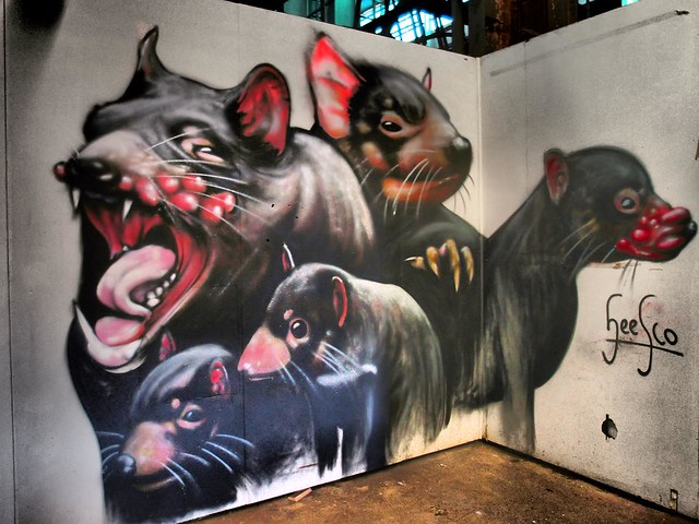 Tasmanian Devils - Outpost Project - Art from the streets - Cockatoo Island Sydney
