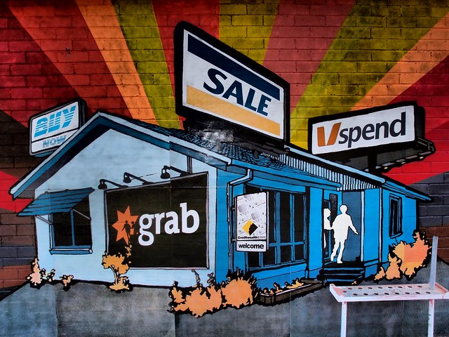 Australian Banks/Finance System - Outpost Project - Art from the streets - Cockatoo Island Sydney