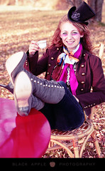 [Themed] Mad as a Hatter! Teen Session (blackapplestudios) Tags: sudbury madhatter timburton aliceinwonderland alternativephotography alternativeportraits themedphotography naturallightphotographer offbeatphotography sudburyphotography madhattermakeup madhatterphotography