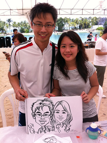 caricature live sketching for LGT Family Day - 8