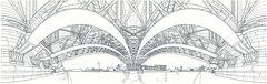 Liège, pont de Fragnée (gerard michel) Tags: belgium perspective dessin pont liège fragnée
