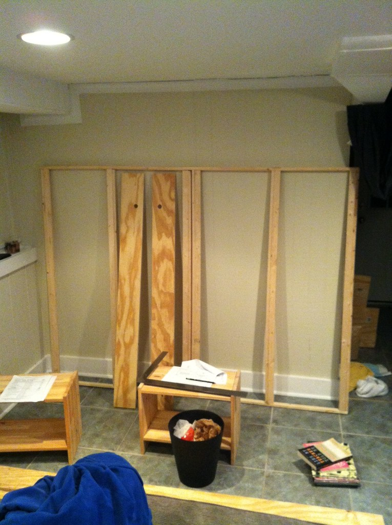 murphy bed under construction