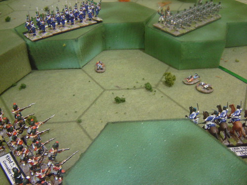 Grenadiers combine with the Cossacks