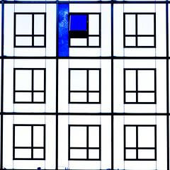 C'est une maison bleue (fidgi) Tags: paris architecture façade bleu blue blanc white noir black pattern carré square cmwdblue abstract