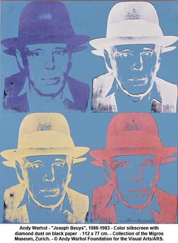 "Andy Warhol - ""Joseph Beuys"", 1980-1983 by artimageslibrary"