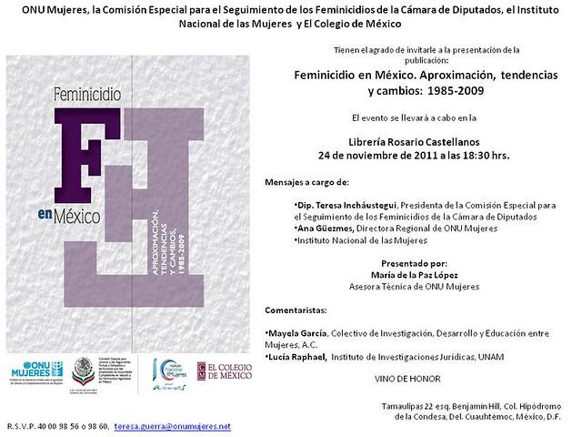 Feminicidio en México. Aproximación, tendencias y cambios: 1985 – 2009
