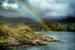 A little while (Iskald) Tags: uk bridge water clouds scotland rainbow hills lochailort lochnanuamh absolutelystunningscapes hdrfromsingleexposition