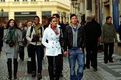 Elegance (thinkfat (catching up)) Tags: street people film canon iso200 prague prag praha oldtown eos3 agfavista ef100mm