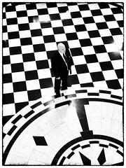 2 Tone (Feldore) Tags: city ireland man geometric standing tile hall pattern floor geometry patterns ska guard belfast security rotunda northern mchugh feldore