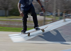 Rolln on up (StoiKNA) Tags: park motion blur nikon tricks skateboard skater ajax mcleans d7000