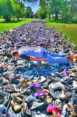 Face down in a river of shoes (Notkalvin) Tags: streetart art feet river foot shoes highheels detroit tuesday desenex facedown athletesfoot tinactin tyreeguyton fdt mikekline michaelkline hfdt notkalvin notplanking ameldamarcos ohmylordtherearealotofshoes notkalvinphotography