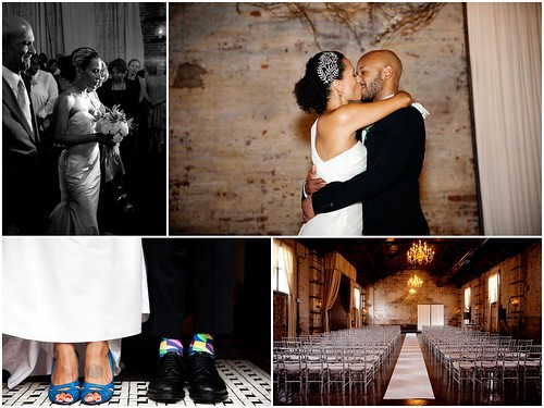 blue+wedding+shoes, groom+socks,  dramatic+bridal+hair+accessory, wedding+The+Green+Building