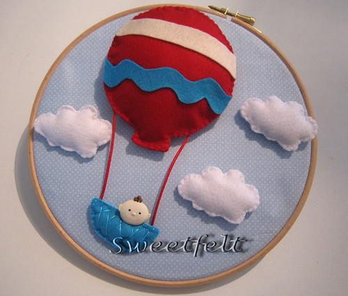 ♪♫♫♪ O balão do João sobe, sobe pelo ar... by sweetfelt \ ideias em feltro