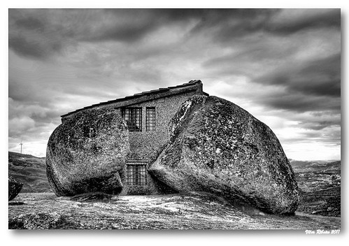 Rock house (b/w) #3 by VRfoto