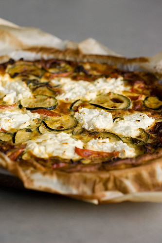 quiche courgette tomaat geitenkaas