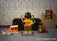 Legolympics 3012: Virtual Boxing (tomleech) Tags: beer sport dance lego competition mini couch pizza mat sofa photograph virtual future figure trophy minifig olympic boxing custom dancemat 3012 legolympics