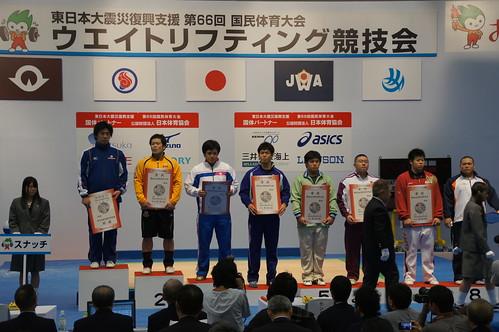 成年105kg級 スナッチ表彰式