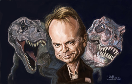 digital caricature of Sam Neill