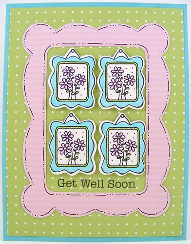 Framed Get Well Card