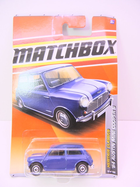 matchbox '64 austin mini cooper s blue (1)