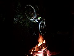 Campfire and Niner single speed at Tsali.
