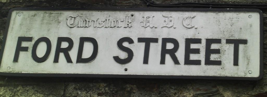 Tavistock Road Sign West Devon