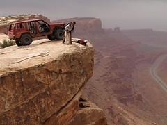 On The Edge (xjblue) Tags: utah jeep offroad 4x4 moab cherokee xj