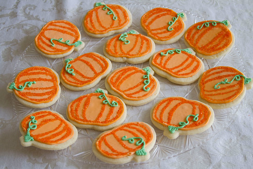 Decorated Pumpkin Cookies - 2