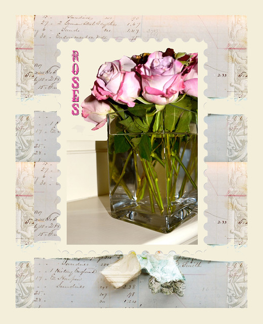 Roses ephemera background