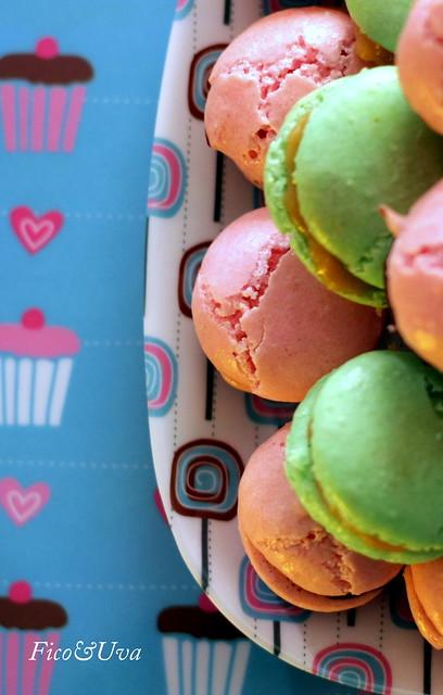 Macarons verdi e rosa