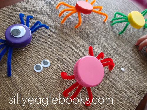 bottle cap spider craft