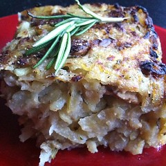 Rosemary potato apple rosti