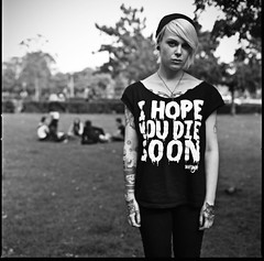 I hope you die soon (P_mod) Tags: blackandwhite film hasselblad nya purdey